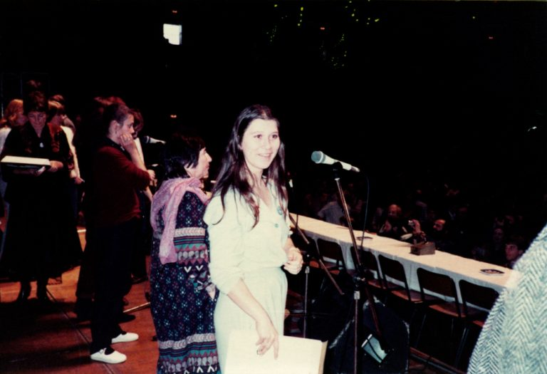Dortmunder Westfalenhalle, 21. November 1981 – Eva Mattes bei den Proben