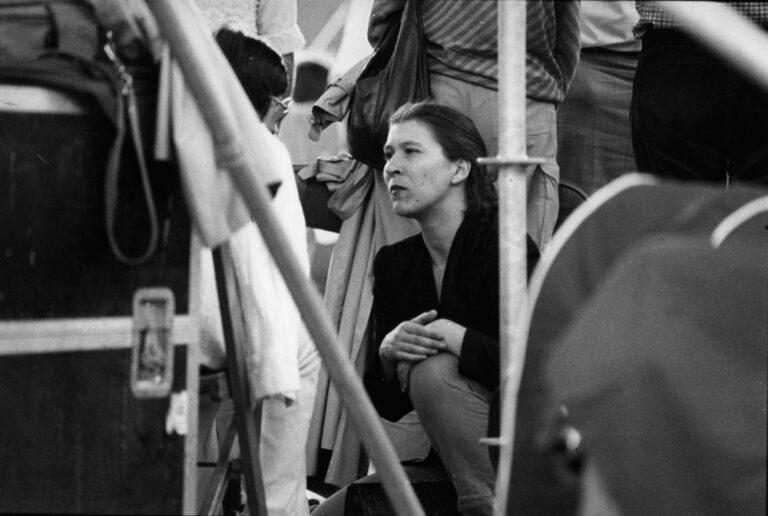 Eva Mattes backstage