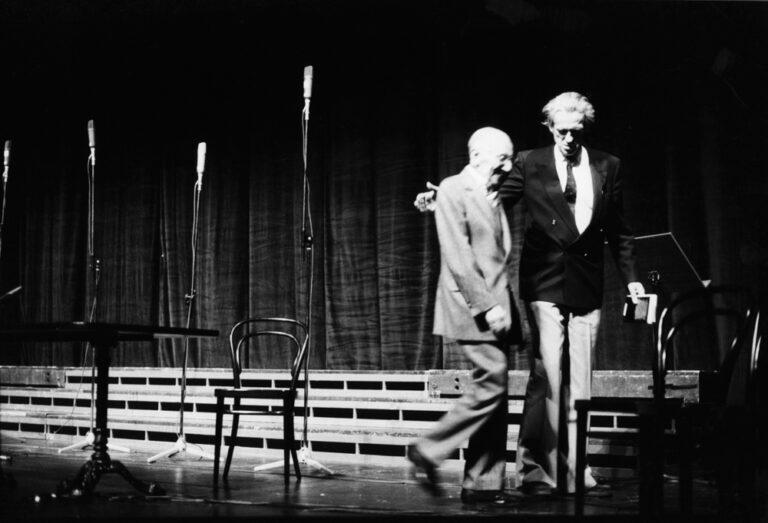 Im Schauspielhaus: Curt Bois und Walter Jens