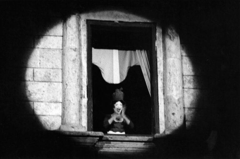 Probe auf der Piazza Grande in Montepulciano: Marcel Marceau