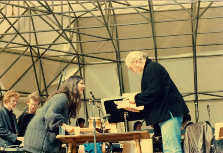 Probe im Stadtpark 12. Mai 1985, Eva Mattes und Ulrich Wildgruber