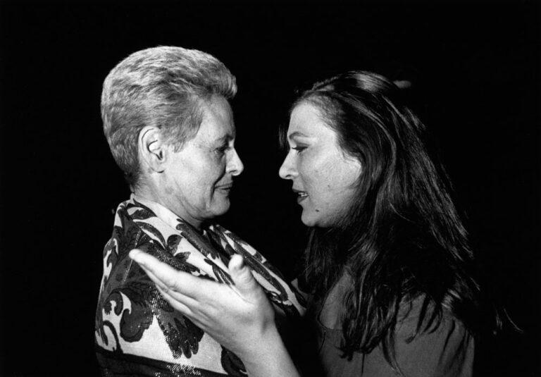 Irmgard Schleier und Eva Mattes mit Rolf und Hélène Liebermann