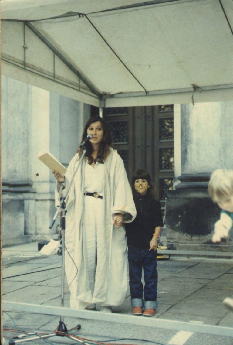 Eva Mattes mit Tochter Hanna bei einem Konzert in Hamburg