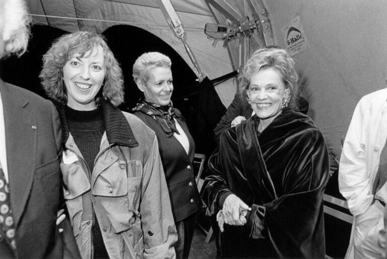 Jeanne Moreau mit Hélène Vida-Liebermann, Irmgard Schleier
