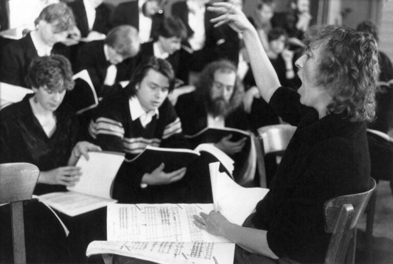 Dirigentin Irmgard Schleier
