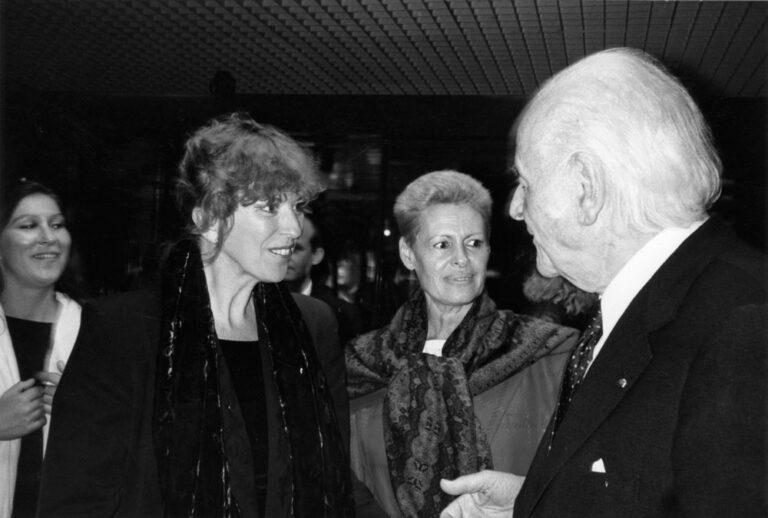 Eva Mattes und Irmgard Schleier mit Rolf und Hélène Liebermann