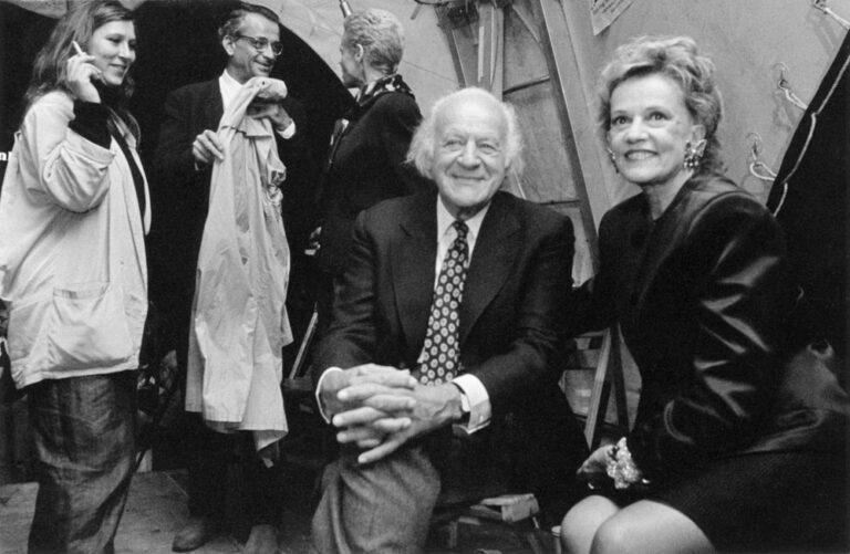 Jeanne Moreau mit Eva Mattes und Rolf Liebermann.