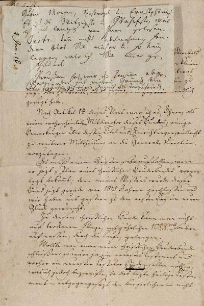Eigenhändige Briefe und Billetts, teils mit Unterschrift – Staatsbibliothek Bamberg OFS.Autogr. R 1 (1816), [Jean Paul Friedrich Richter. Adressat: Emanuel Osmund]