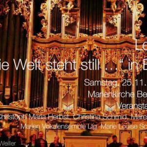 Letzte Lieder - ... und die Welt steht still